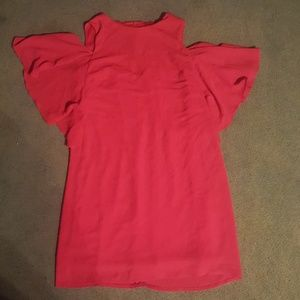 Size 10 London Times Red Open Shoulder Dress